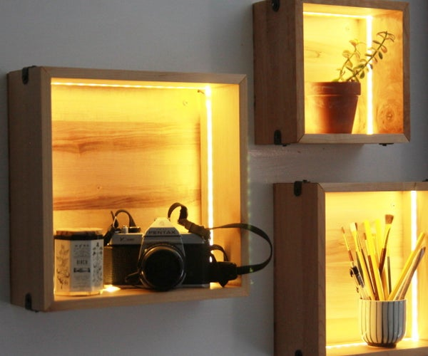 LED Wall Cube Shelves