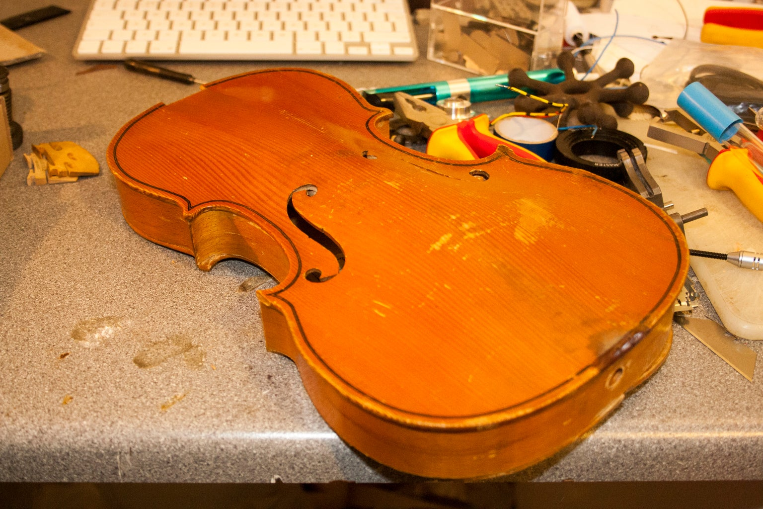 Disassemble the Violin and Remove the Back.