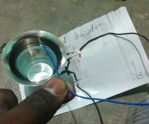 Paper Water Level Indicator Circuit With Paper Transistor