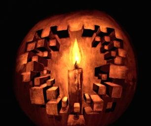 3D Optical Illusion Pumpkin Carving