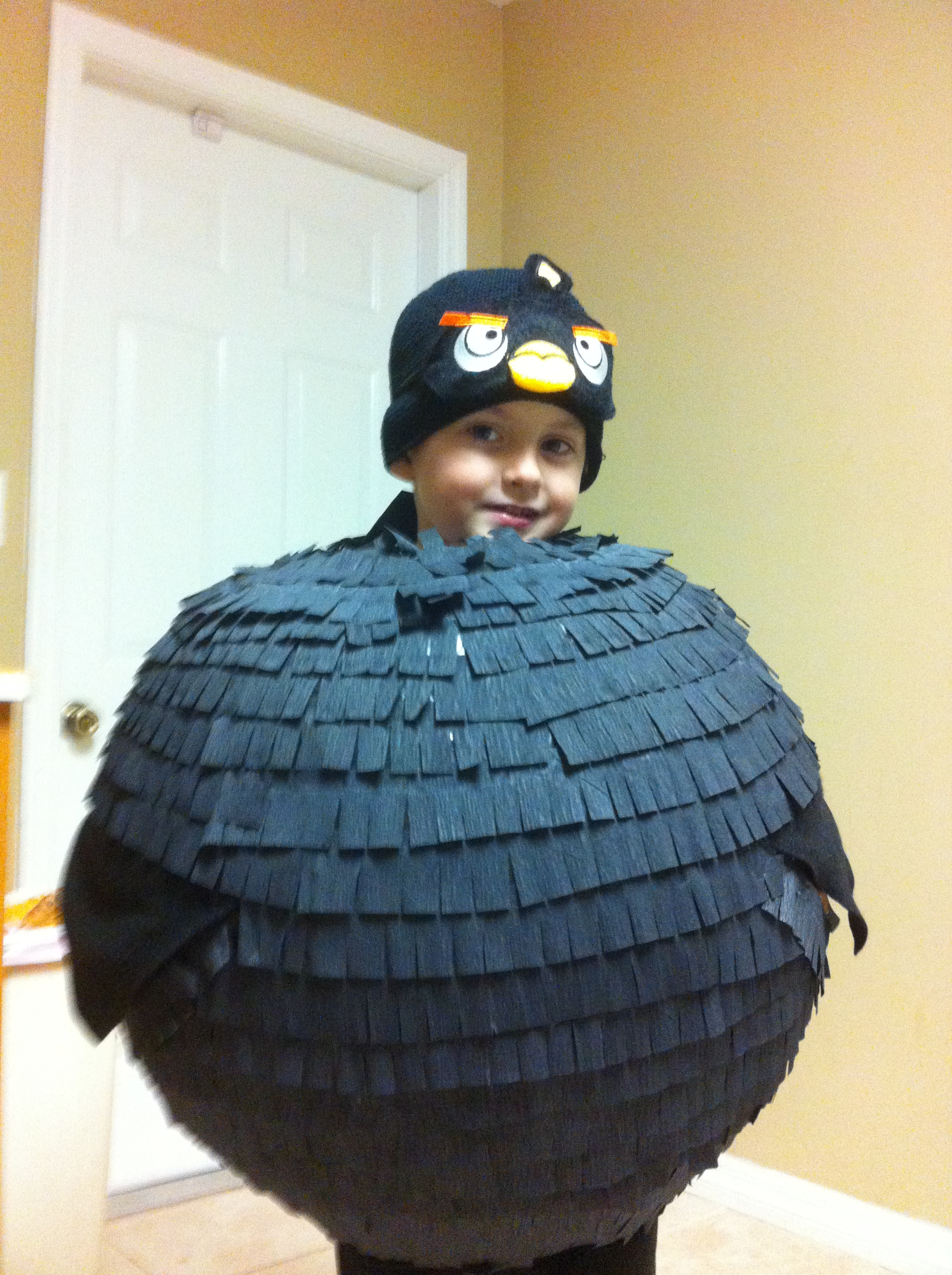 Easy Angry Bird Costume and Candy Basket