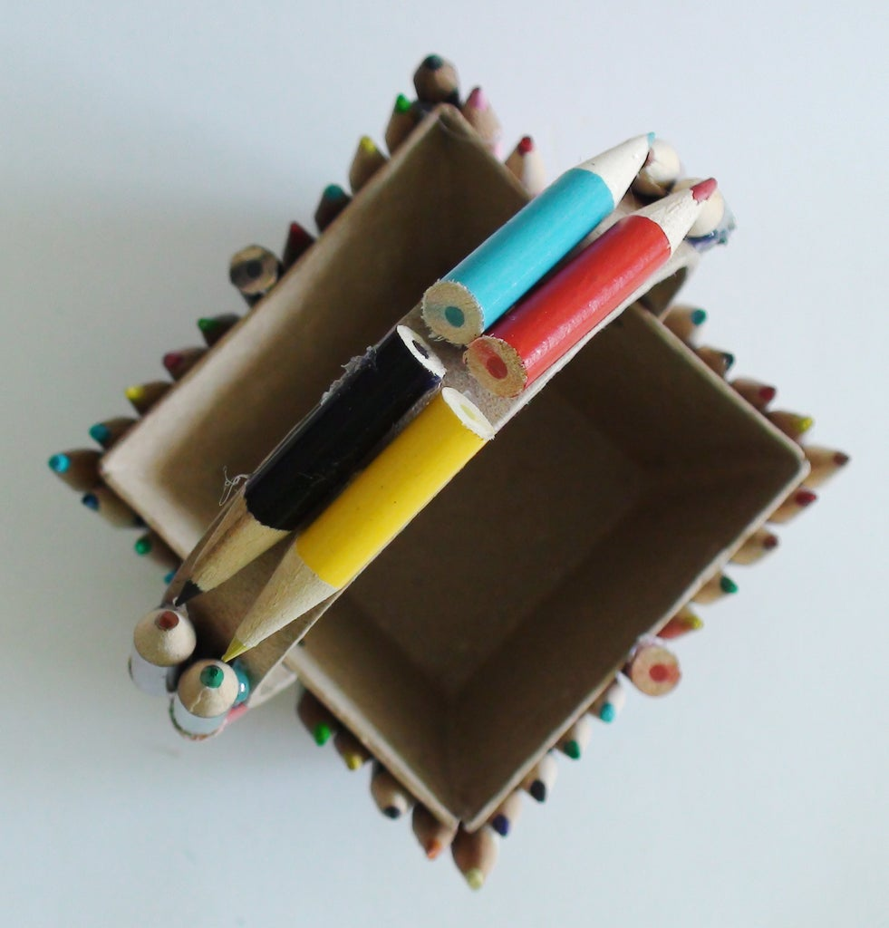 Hot Gluing Your Pencils
