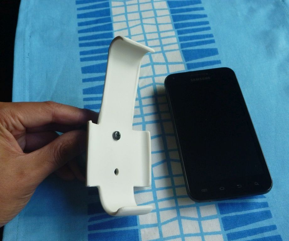 Cellphone bike mount from PVC