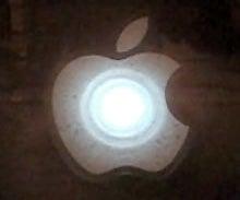 Throbbing Apple Logo Sticker