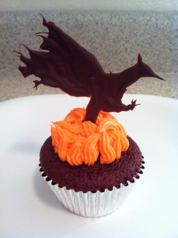 Katniss Spicy Red Velvet Hunger Games Cupcakes