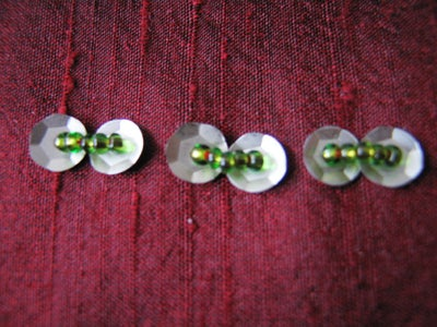 Two-sequin Line With Beads