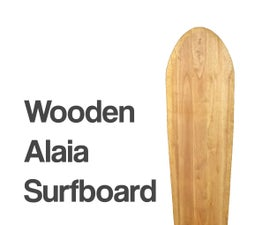 Wooden Alaia Surfboard