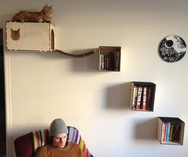 Cat Shelves and Hideaway