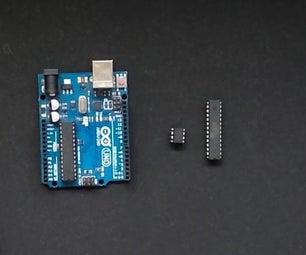 如何使用Arduino Ide编程任何类型的AVR单片机|| Hex Shield || Attiny85 || Atmega8 || Atmega32
