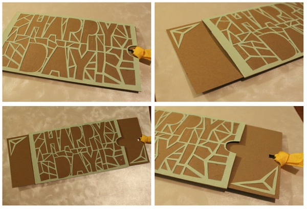 Slider Greeting Card (with Optional Laser Cut Design!)