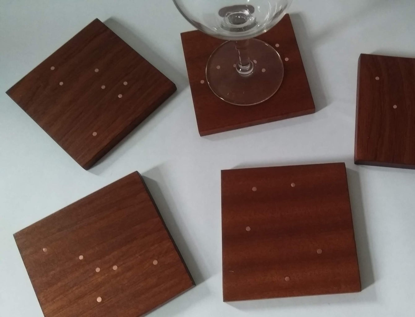 Constellation Coasters With Copper Inlay