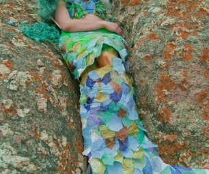 Make a Mermaid Costume From Old Junk