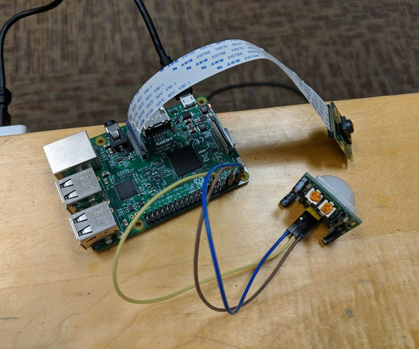 Raspberry Pi Human Detector + Camera + Flask