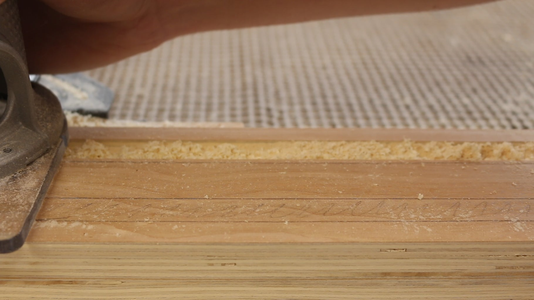 Route Groves in Plywood Base