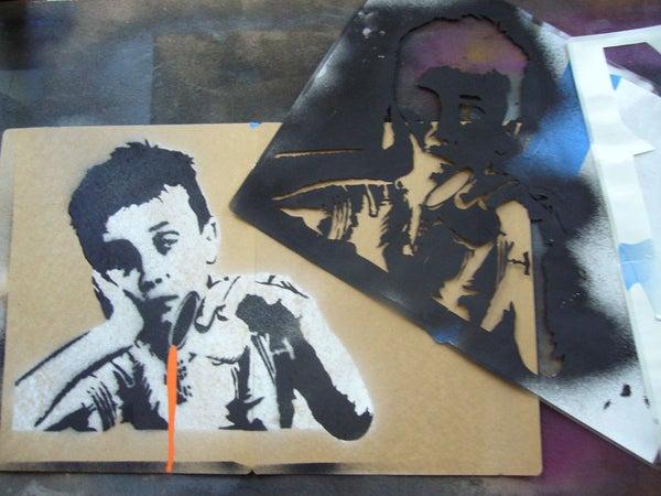 Creating Complex Spraypaint Stencils by Hand