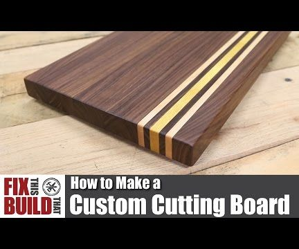 Custom Cutting Board From Scrap Wood