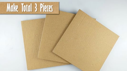 Cut 17 Cm Cardboard Squares (REFER VIDEO)