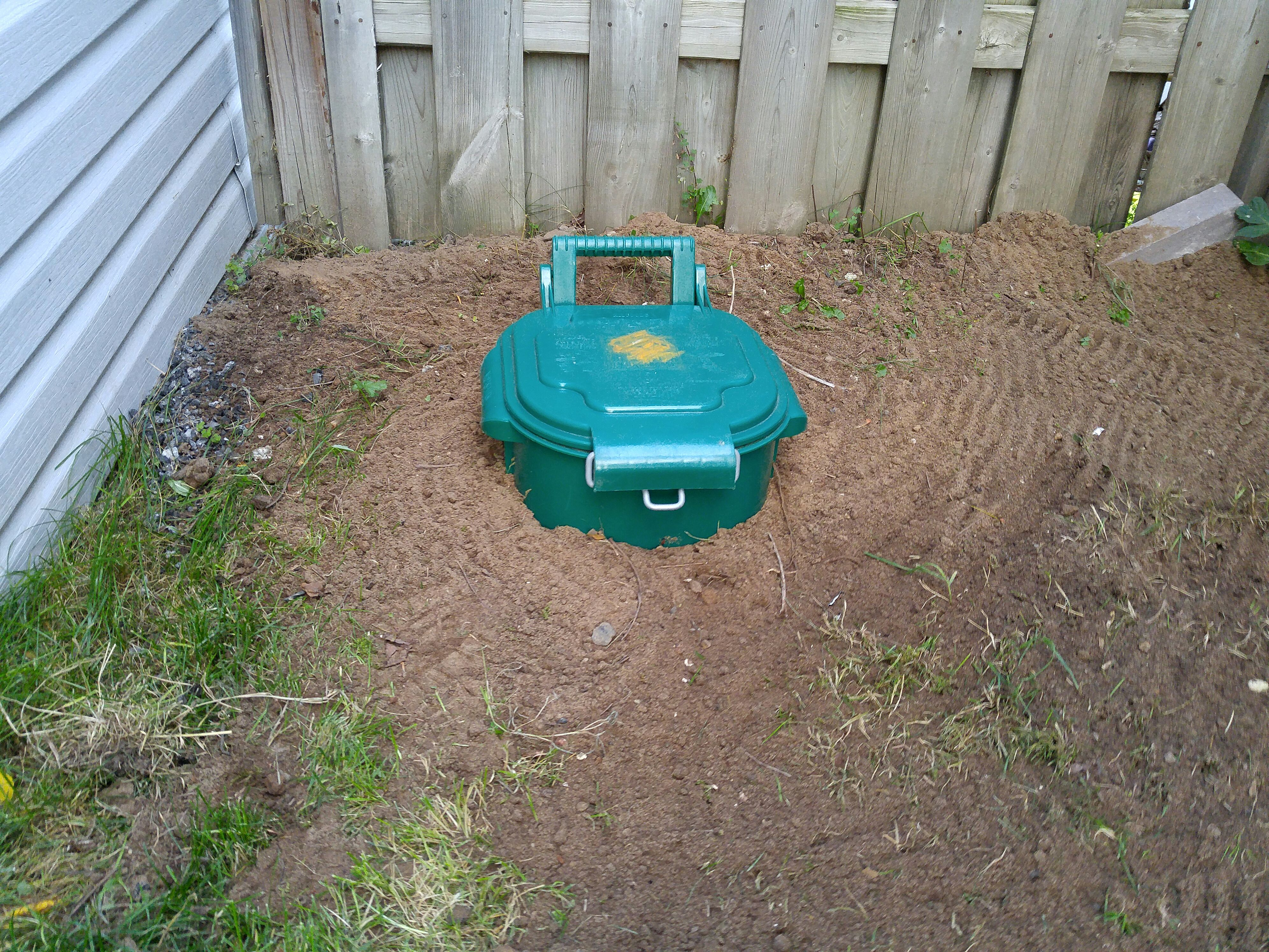 Back yard dog poo compost septic tank
