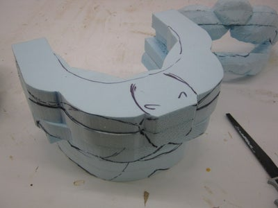 The Mask- Carving Blue Foam