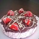 Frozen Chocolate Strawberry Pie