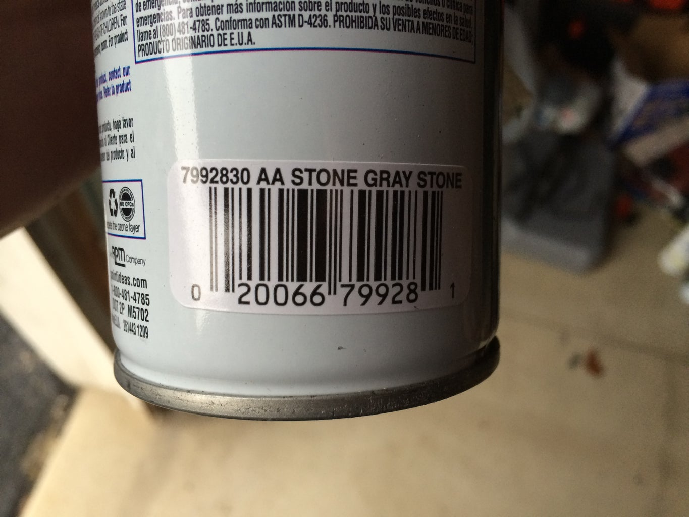 Apply the Faux Stone Spray Paint