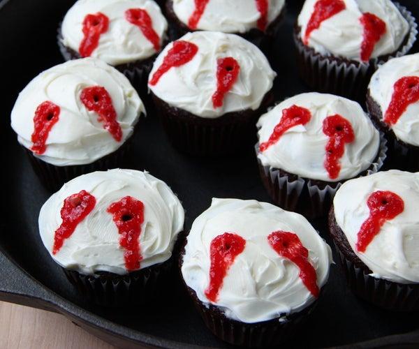 Vampire Bite Cupcakes