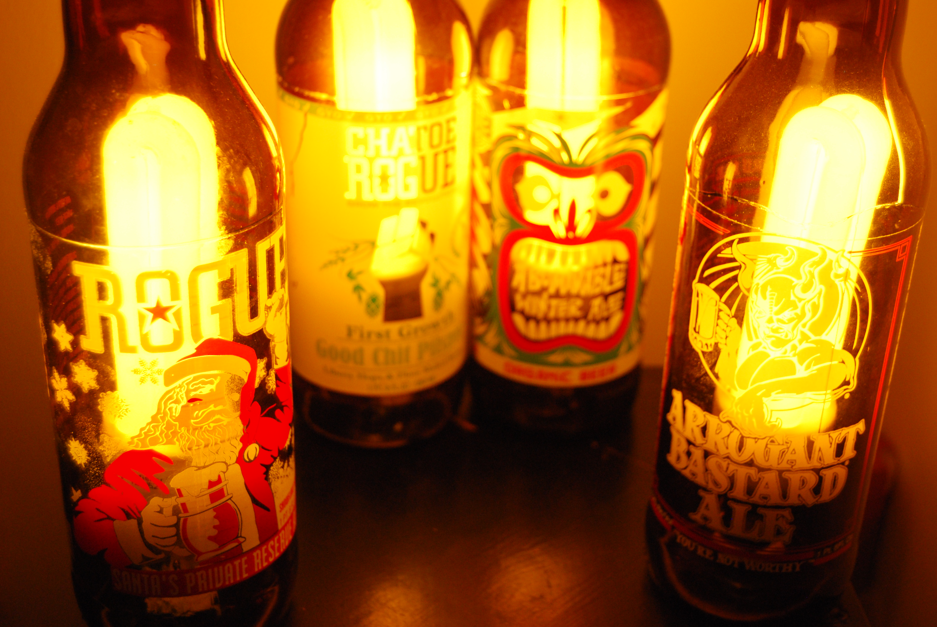 Beer Bottle Lamps