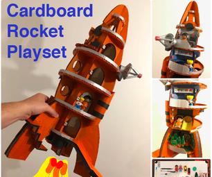 Rocket Playset - Made From Used Cardboard Boxes