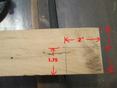 Cut Steps on Oak Board