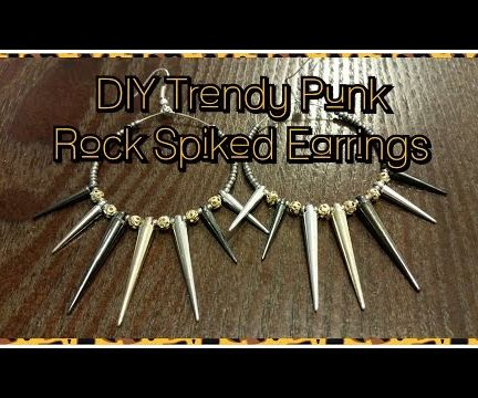 DIY Trendy Punk Rock Spiked Earrings
