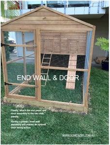 Chicken Coop Walls & Door