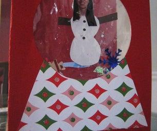 Real Snowglobe Holiday Card
