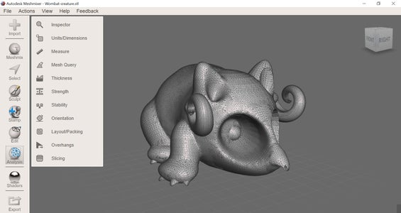 Exporting From Tinkercad and Importing Files Into Meshmixer