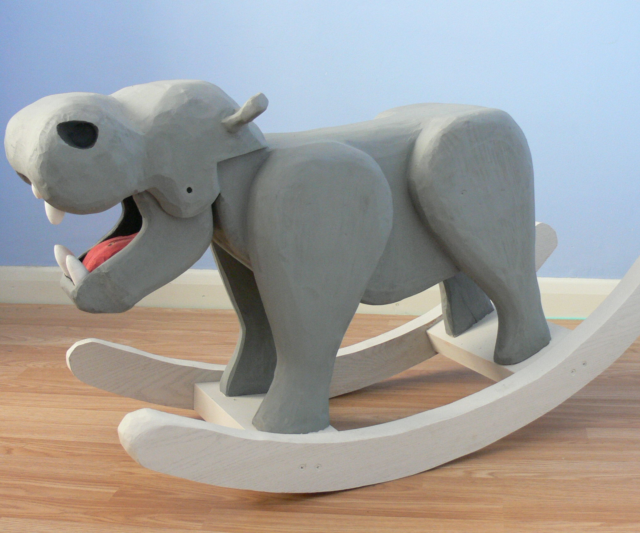 Henry the Rocking Hippo - With Moving Jaw - Rocking Horse Project