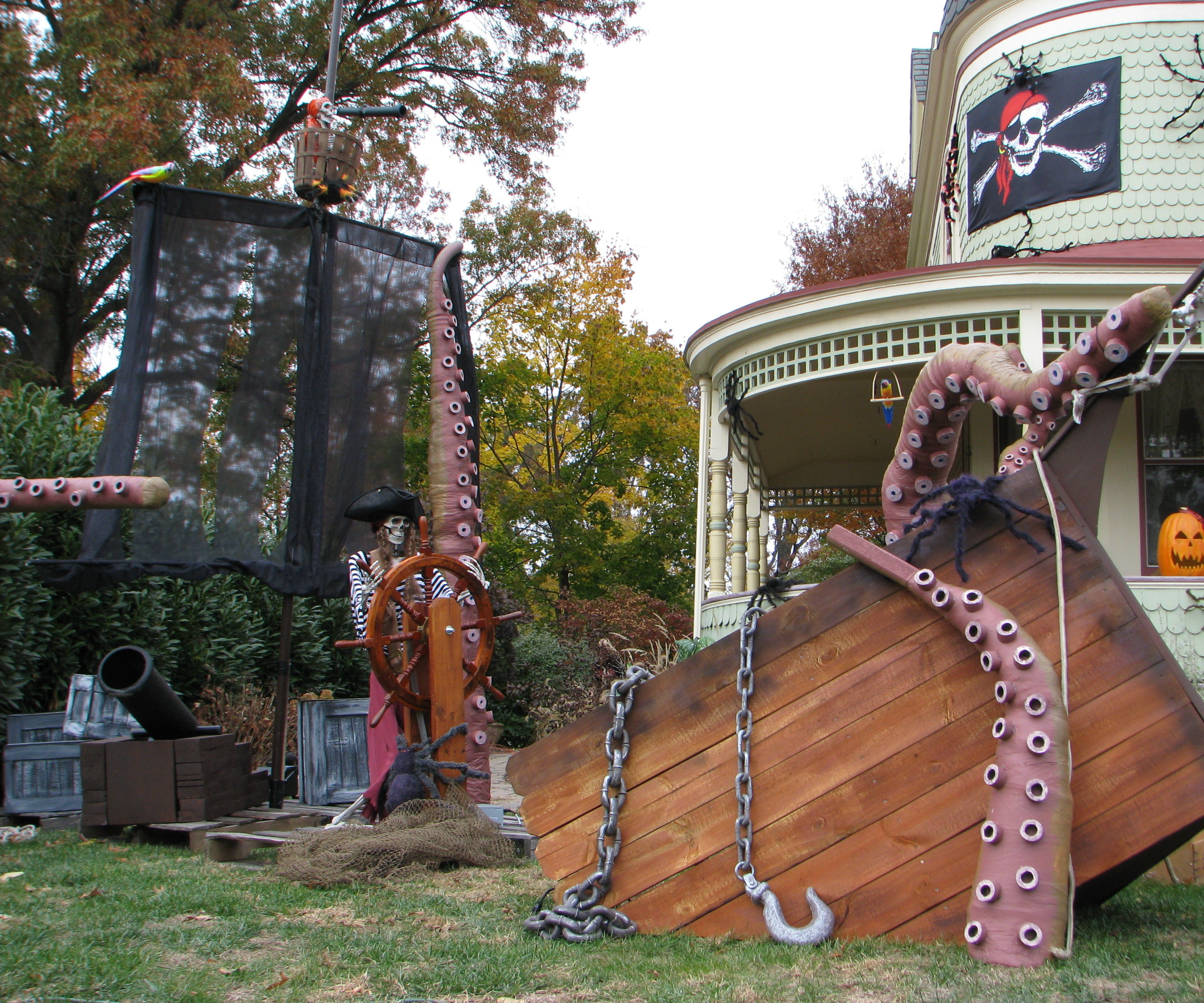 Kraken Tentacles and a Ship for Them to Destroy!!!