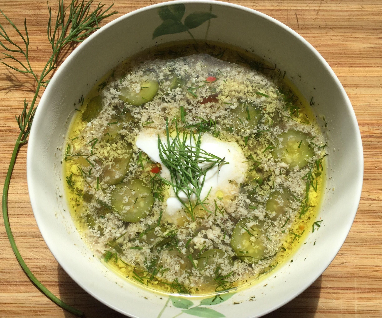 Baby Zucchini Egg Drop Soup