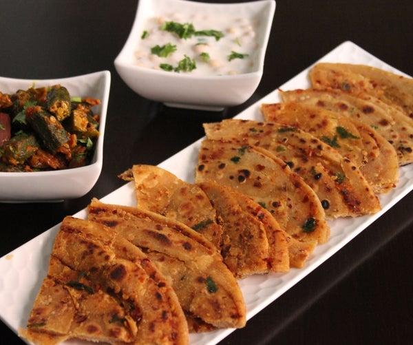 Chilli Flakes Lachha Parantha (Indian Layered Flatbread)