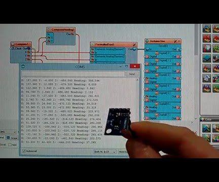 Arduino Nano: HMC5883L Compass With Visuino