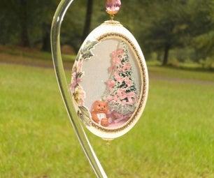 Pink Christmas Egg - Faberge' WannaBe