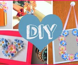 DIY SPRING ROOM DECOR - Cute Ideas With Fake Flowers!!