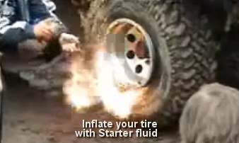 Re-inflating a Tubeless Wheelbarrow or Hand Truck Tire (without Explosives)