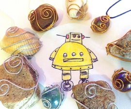 Elegant and Easy Wire Pendants From Common Items