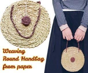 Weaving Round Handbag From Paper