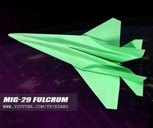 Mig-29 Fulcrum Paper Jet