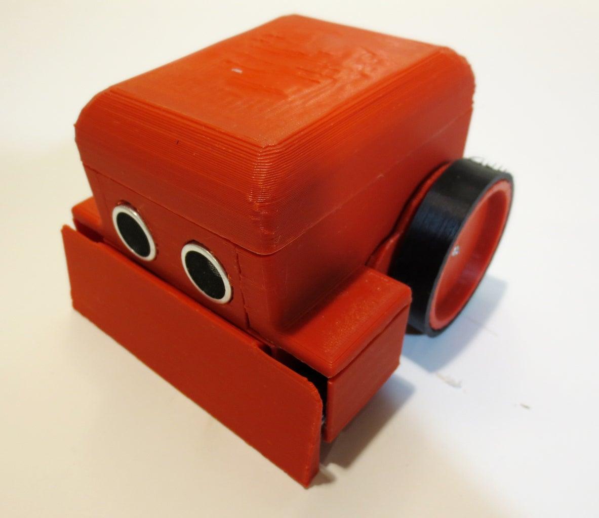 Install Buzzer, Ultrasonic, Battery & Close It Up