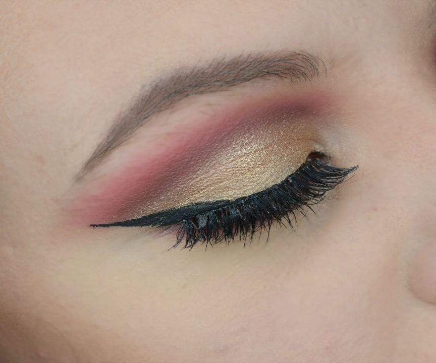 Red Gold Cut Crease Makeup Tutorial