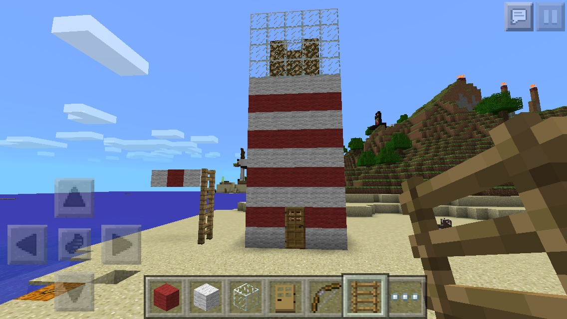 How To Make A Light House On Minecraft!