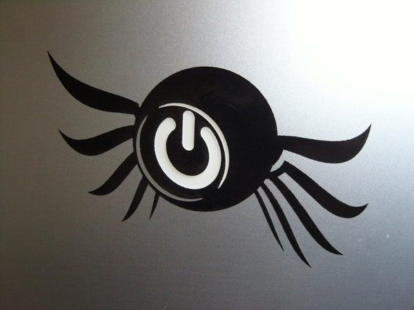 Laser-Cut Laptop Tattoo
