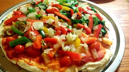 Fast, Easy, Yeast-Free Vegan Pizza!