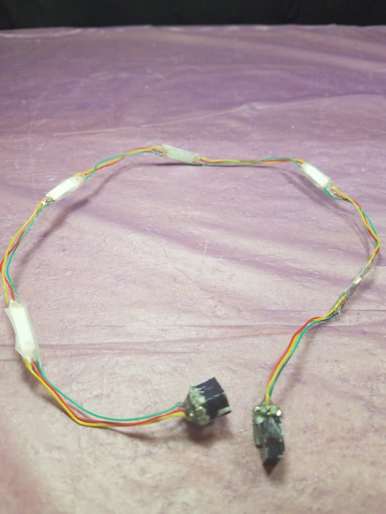 Tape the Rest of the LEDs in the Chain